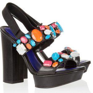Kenzo 36 Crystal Embellished Platform High Heels